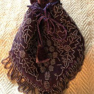 Bags - Rich Purple boho beaded crossbody bag
